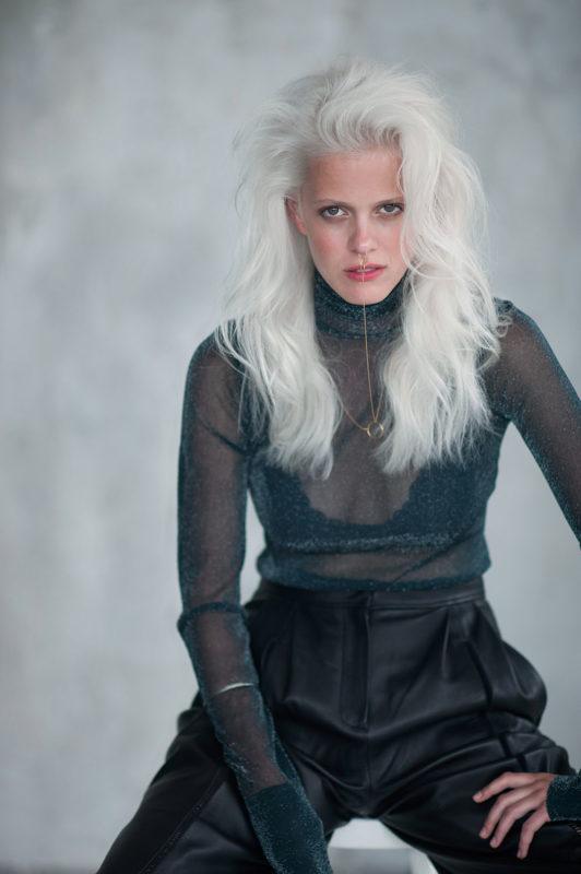 Magazine Elle tchèque - editorial beauté cheveux - Prague