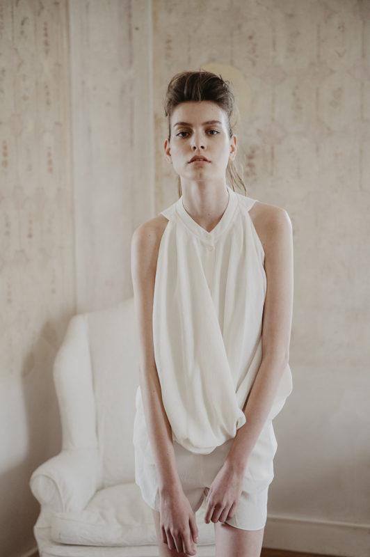 editorial mode Elle tchèque Prague avec Sabina Smutna, thème White