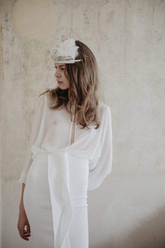 editorial mode Elle tchèque Prague avec Sabina Smutna, inspiration mariage boho White