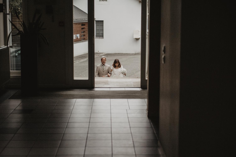 L'entrée de la mariée.
