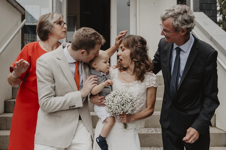 Mariage en famille.