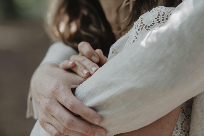 Détail de la robe de mariée Laure dae Sagazan.