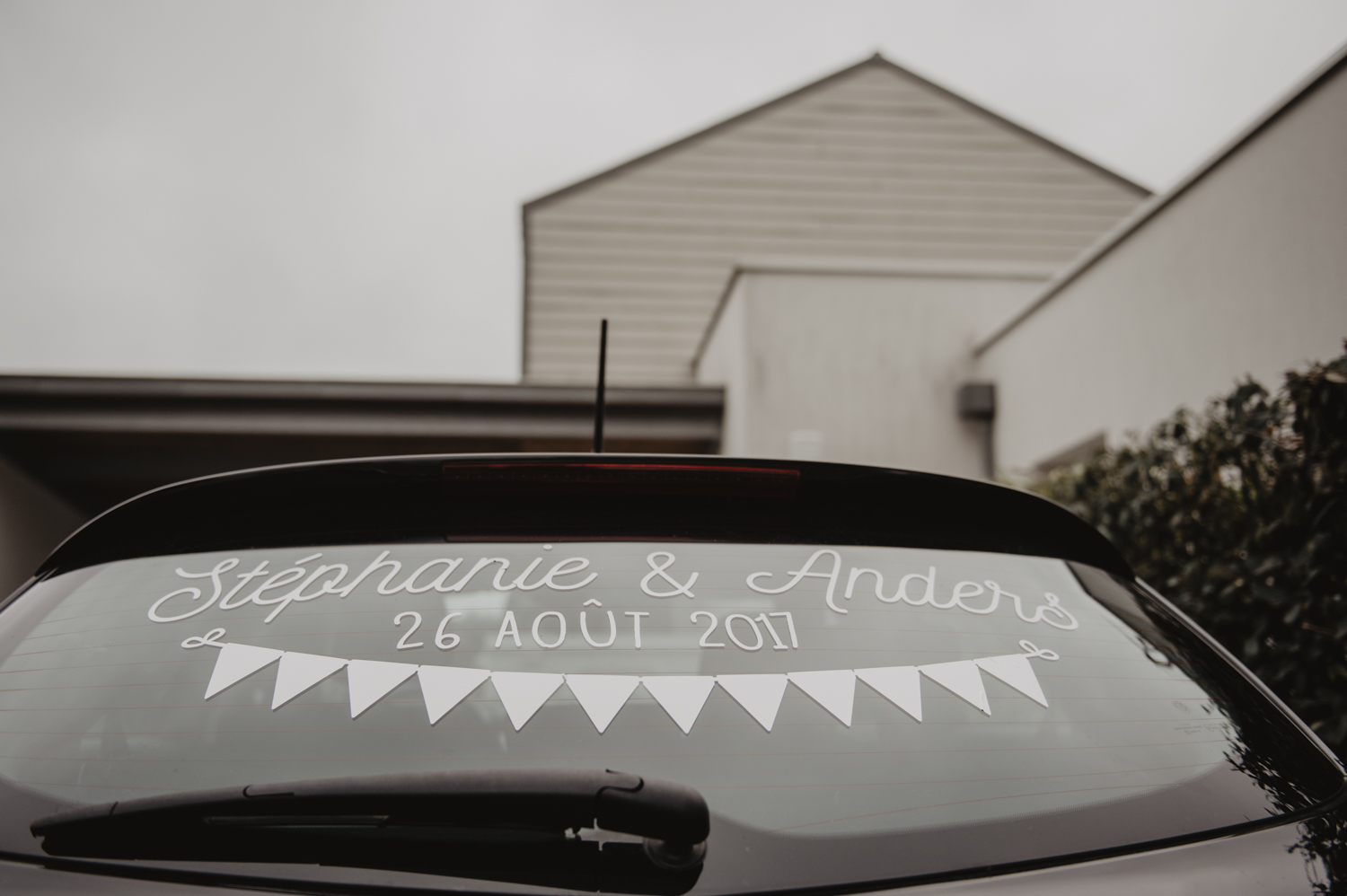Stickers mariage pour voiture.
