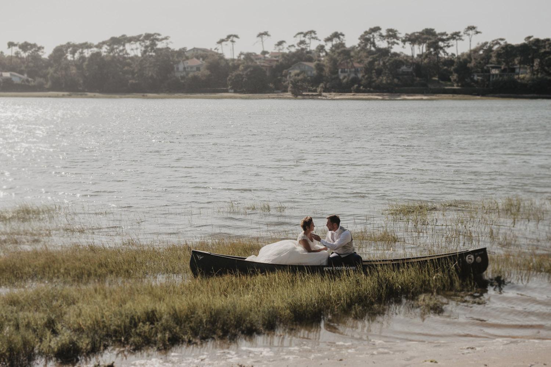 seance en amoureux lac d'hossegor