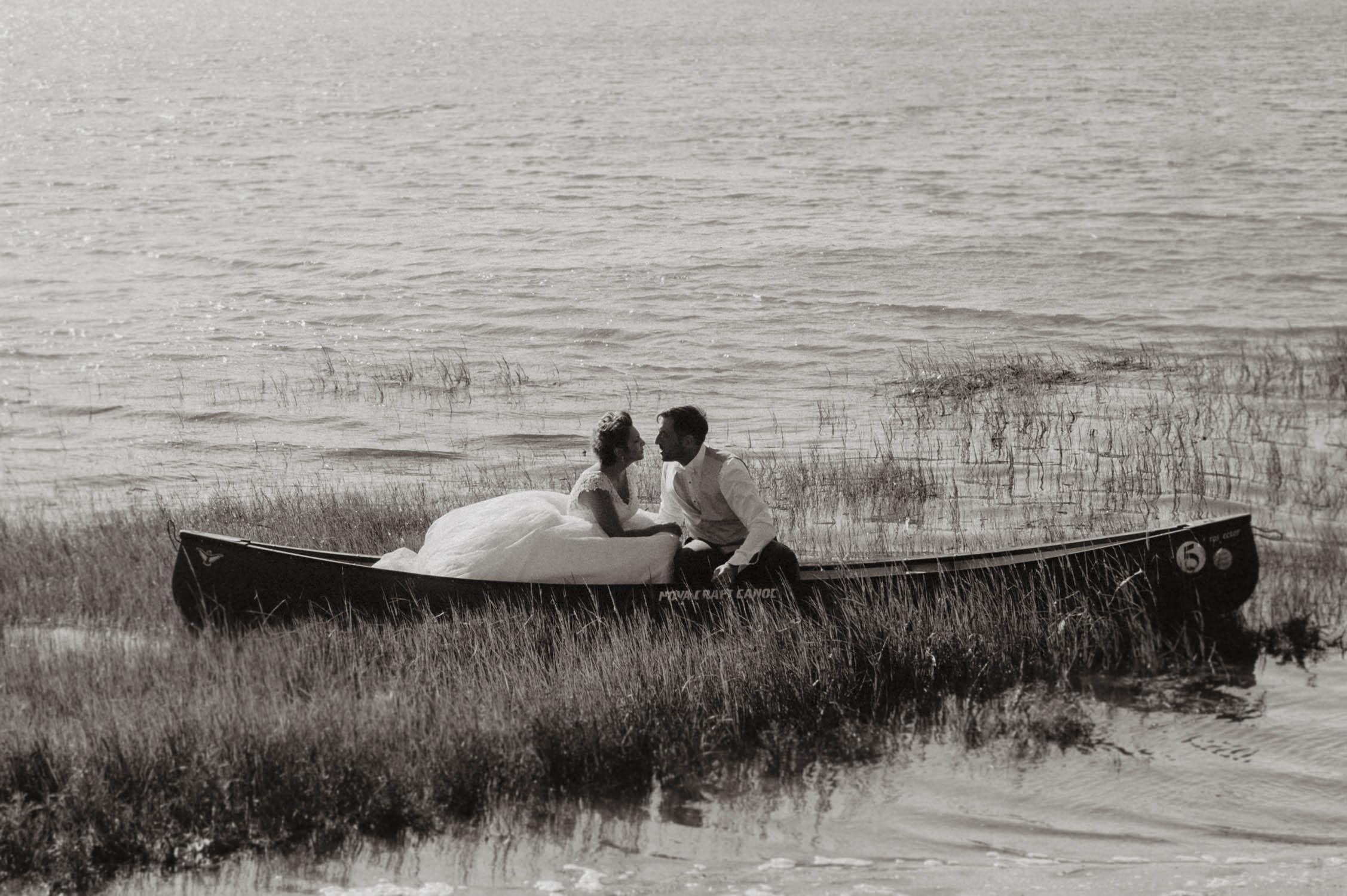 seance photo mariage au lac d'hossegor