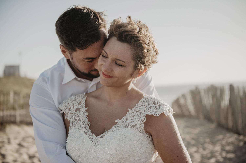 seance photo couple sur la dune à capbreton