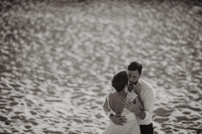 séance photo mariage sur la plage