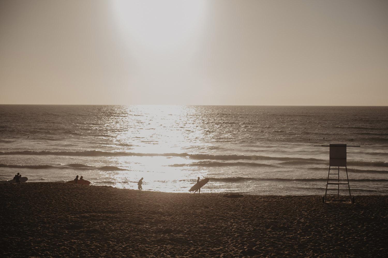 coucher de soleil à capbreton