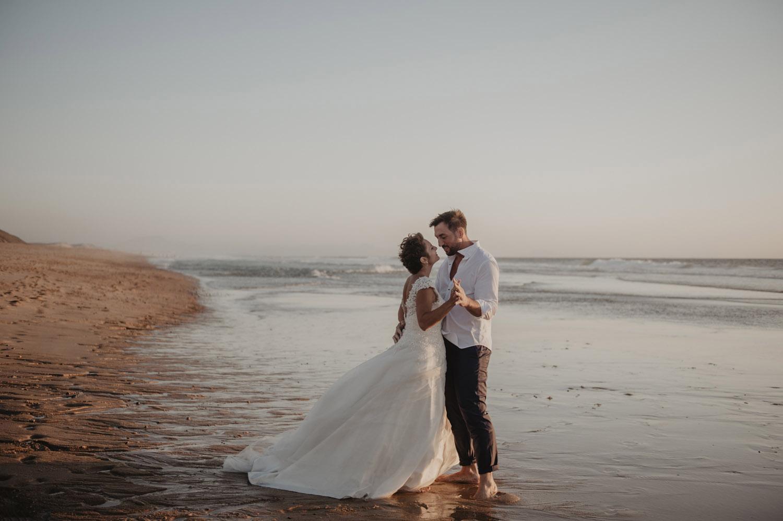 inspiration seance couple à l'Océan