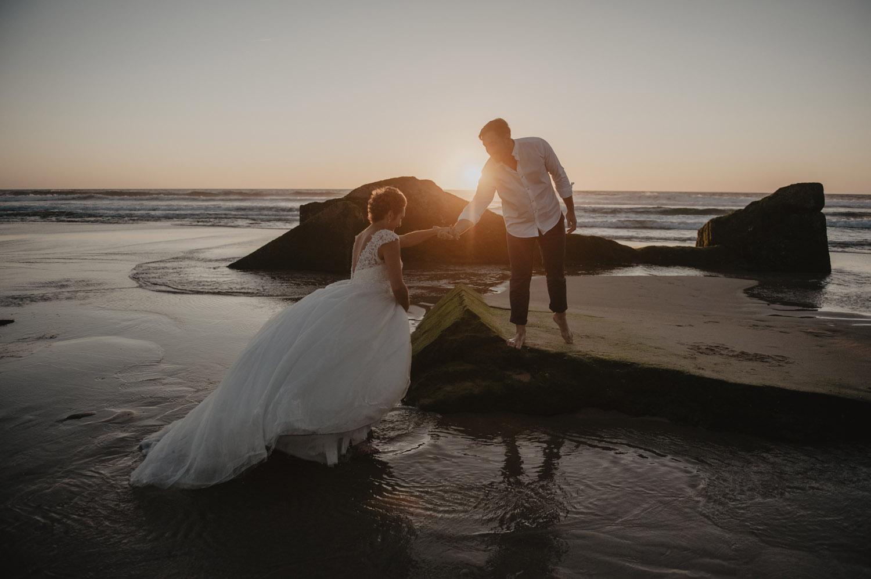 séance couple mariage sur la plage