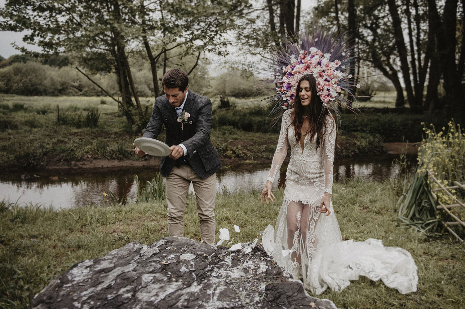 Outdoor folk wedding