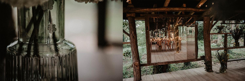 Mariage écoresponsable et végétal dans les bois, Coco Barn Wood Lodge. Photographe mariage lifestyle, Pau.