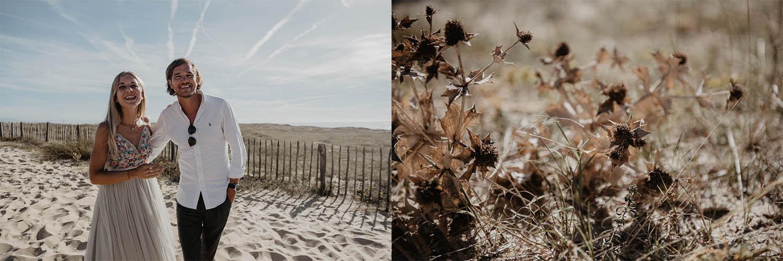 Séance photo couple mariage sur la plage. Photographe professionnel Pau,Hossegor, Seignosse, Capbreton. Aquitaine.
