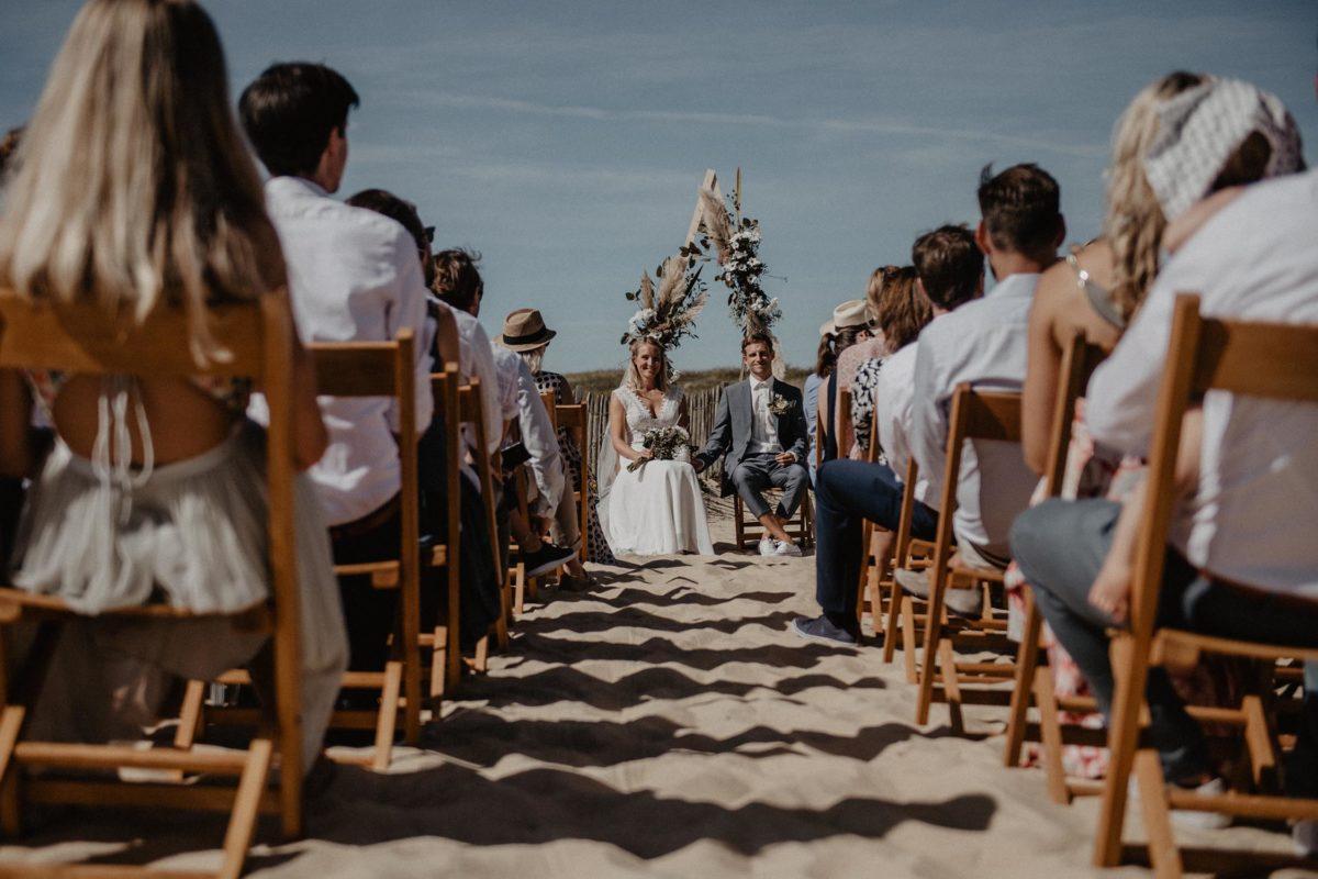 cérémonie laïque plage mariage cool Landes à Seignosse