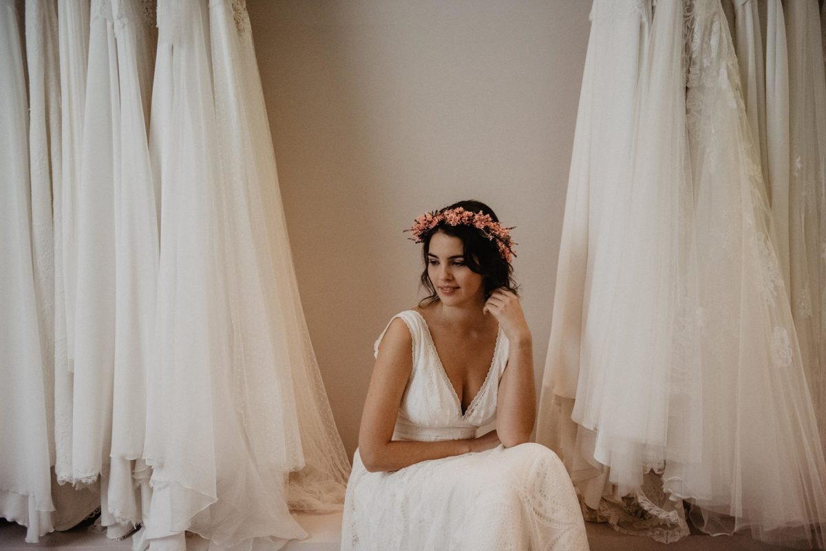 mariage Biarritz domaine de Petiosse, photographe Pau, robe de mariée folk Angeola