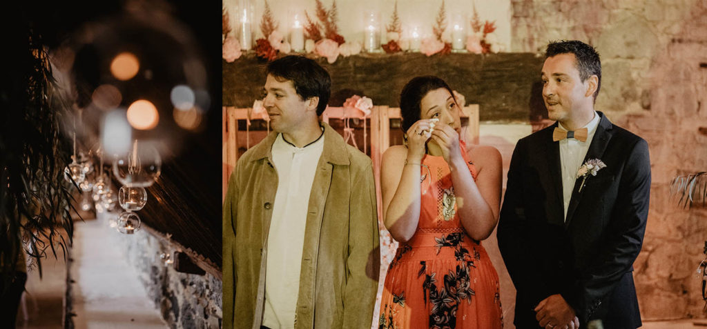 Emotions pendant la Cérémonie laïque dans une Salle de réception atypique, verrière ancienne, mariage sous la pluie, Domaine de Lucain, 64, Pau, Aquitaine