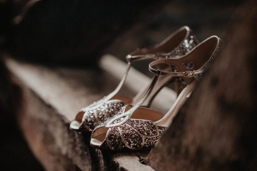 Chaussures Rachel Simpson à paillettes multicolores, mariage à Pau, 64000