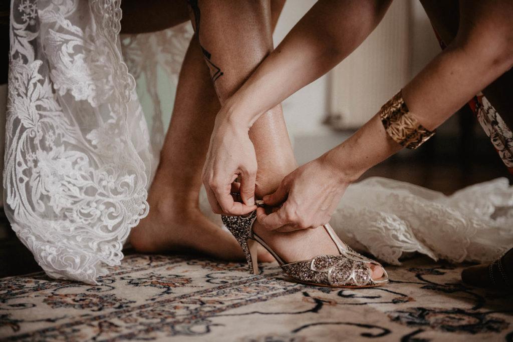 Chaussures de mariée à paillettes multicolores Rachel Simpson, mariage Pau, 64, Aquitaine
