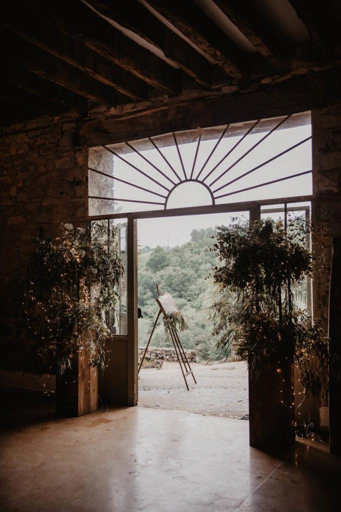 Salle de réception atypique, verrière ancienne, mariage sous la pluie, Domaine de Lucain, 64, Haut de Gan, près de Pau, Aquitaine