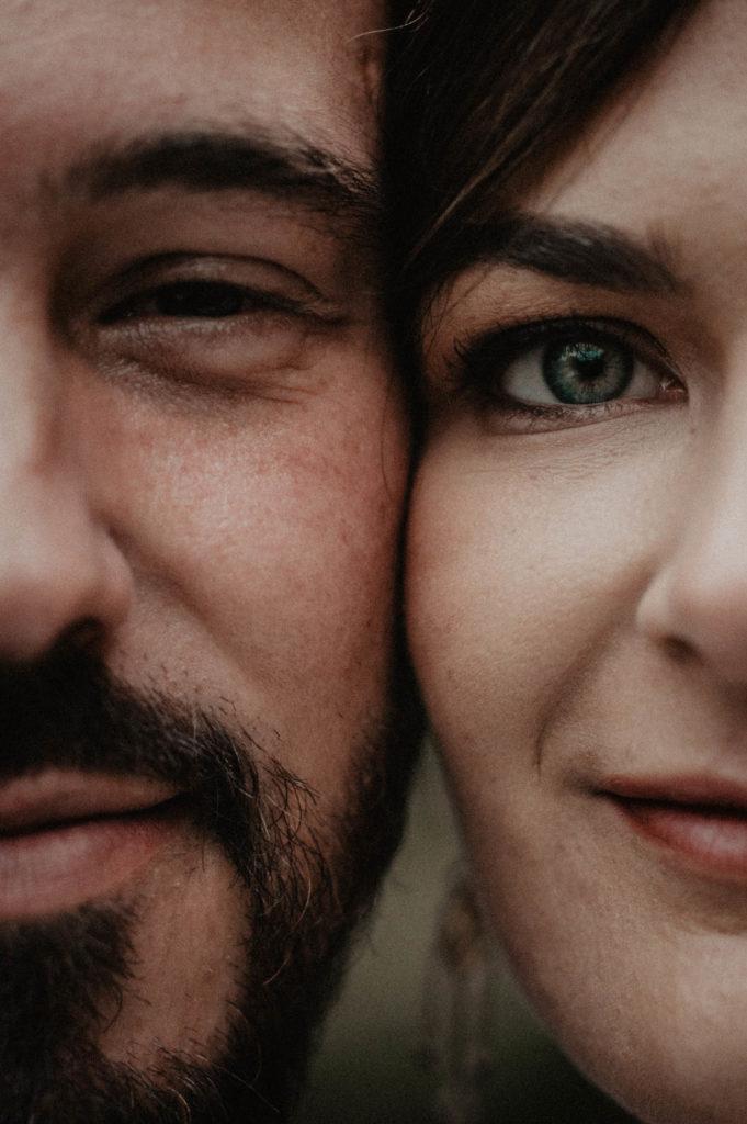 Portrait de mariés, séance photo de couple le jour J