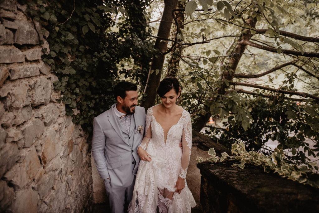 Entrée des mariés au Domaine ed Lucain, Gan, Aquitaine