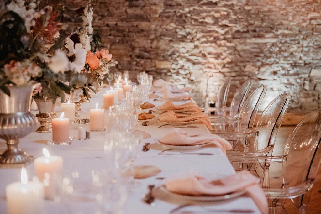 Mariage rose gold au Domaine de Lucain près de Pau