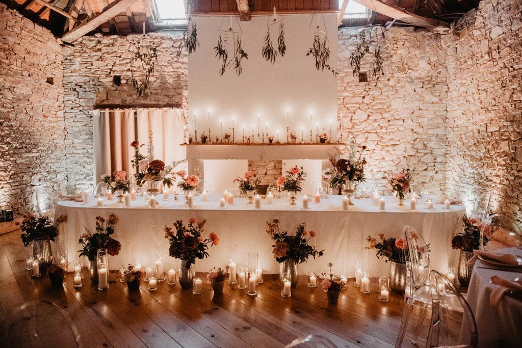 Déco de mariage végétale, fleurie et romantique