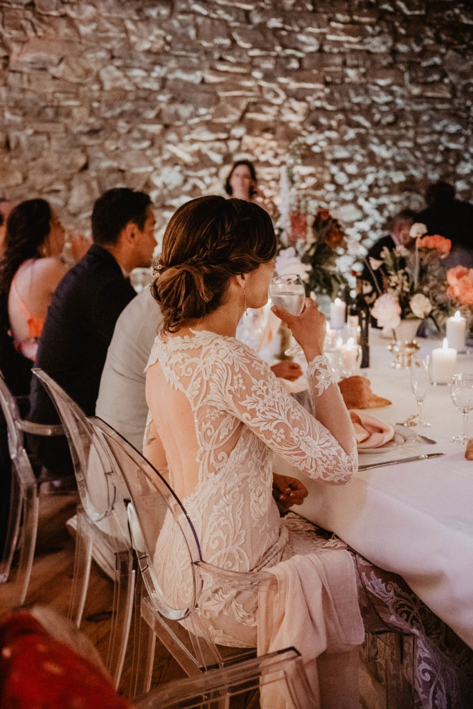 Repas de mariage au Domaine de Lucain