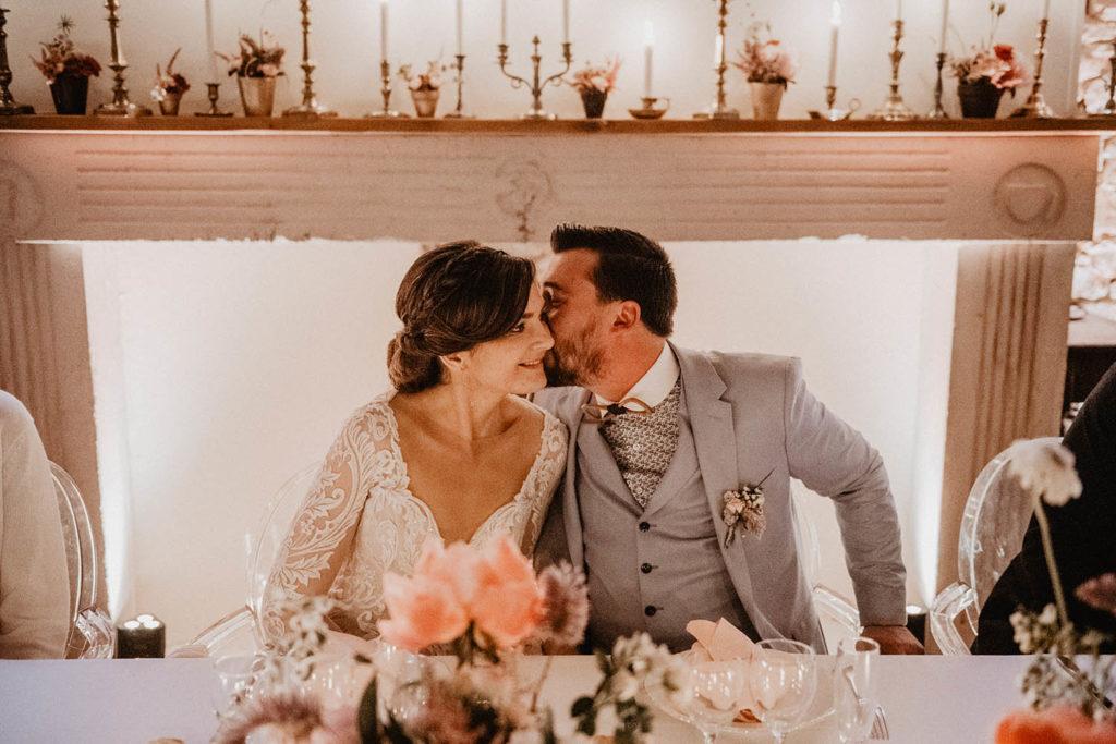 Mariage au Domaine ed Lucain à Haut de Gan, diner aux chandelles