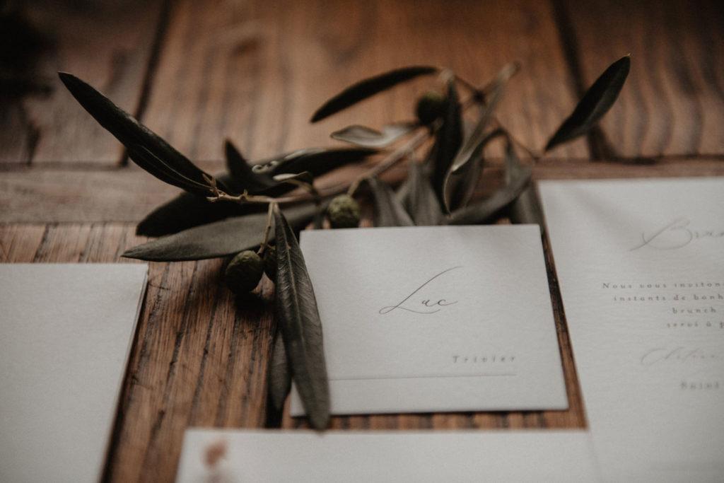 papeterie mariage inspiration végétale