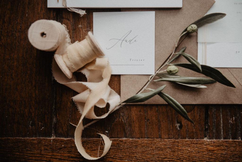Papeterie de mariage kraft