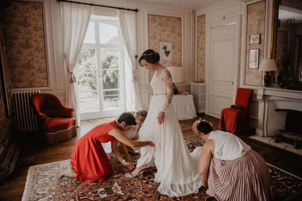 mariage chateau monbet préparatifs