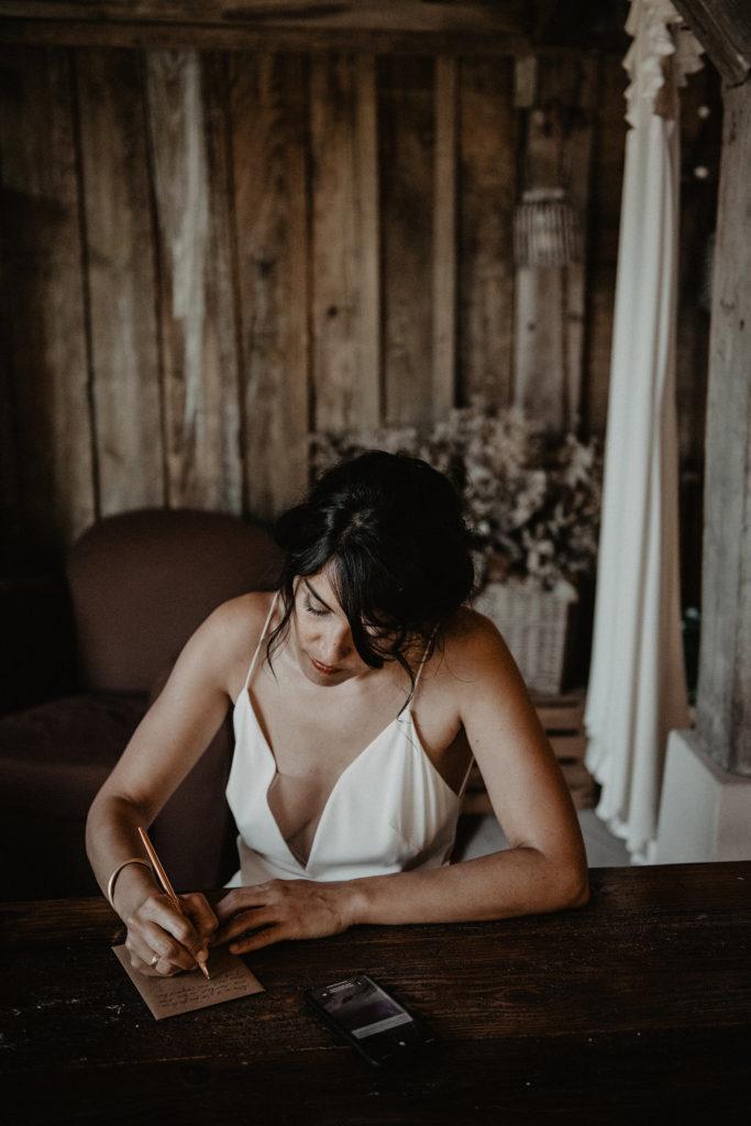 photographe domaine Petiosse préparatifs mariée