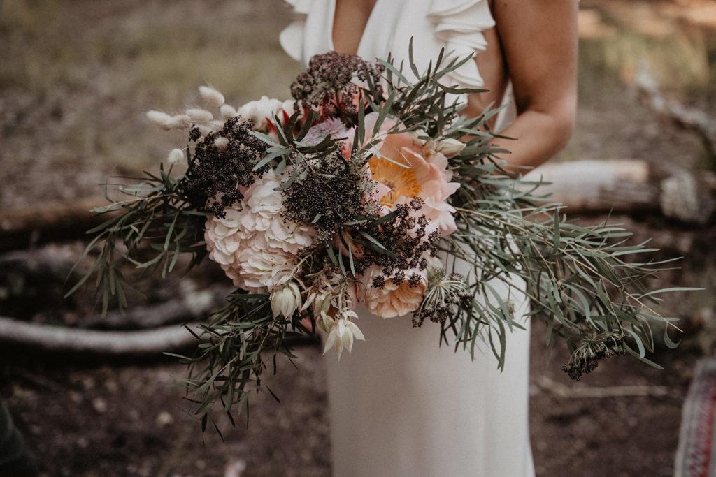 domaine Petiosse photo mariage bouquet original