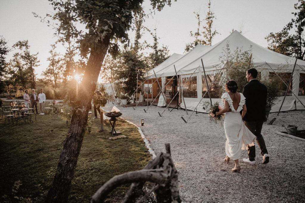 domaine Petiosse mariage cocktail chapiteau